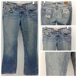 BKE Denim Star Cropped Jeans Size 28